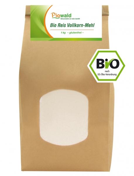 BIO Reis Vollkorn Mehl - 1 kg, glutenfrei