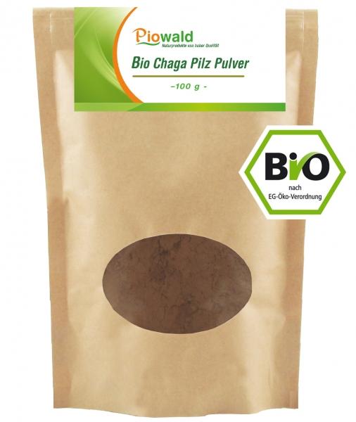 BIO Chaga Pilz Pulver - 100g