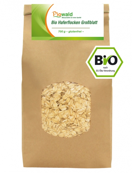 BIO Haferflocken Großblatt - 700g, glutenfrei