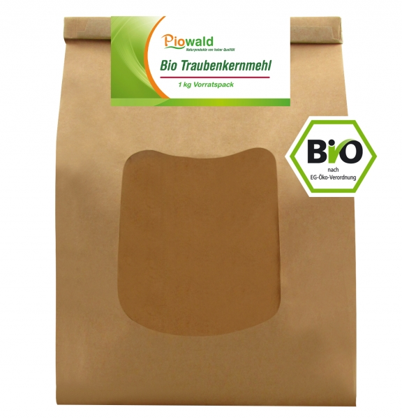 BIO Traubenkernmehl - 1 kg Vorratspack