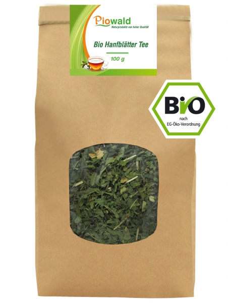 BIO Hanfblätter Tee - 100g loser Tee