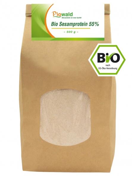 BIO Sesamprotein 55% - 500g Nachfüllpack