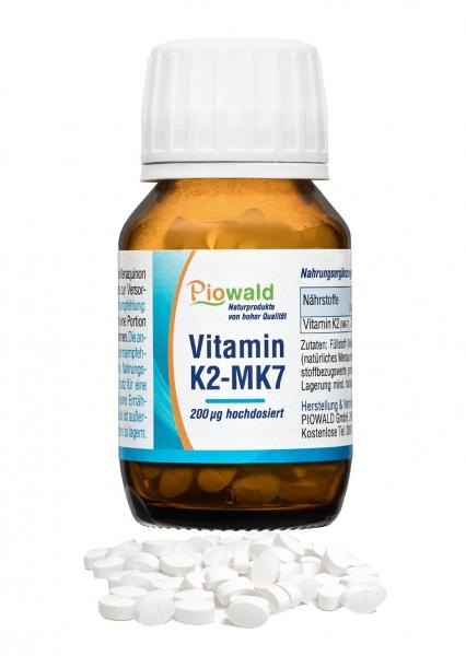 Vitamin K2 MK7 Tabletten - 200 Tbl/20g