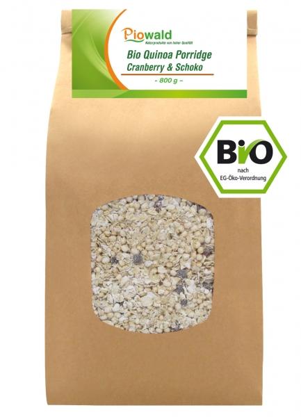 BIO Quinoa Porridge - Cranberry & Schoko 800g