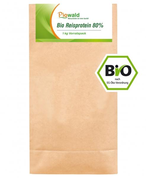 BIO Reisprotein 80% - 1 kg Vorratspack, glutenfrei
