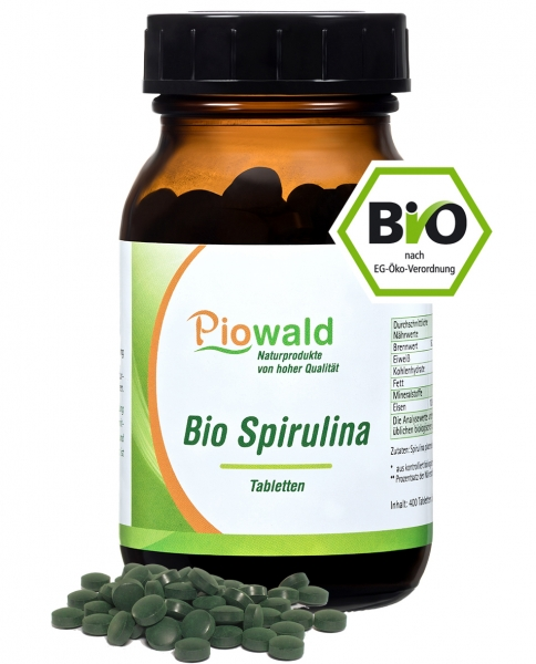 BIO Spirulina - 400 Tabletten/160g