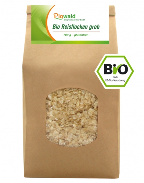 BIO Reisflocken grob - 700g, glutenfrei