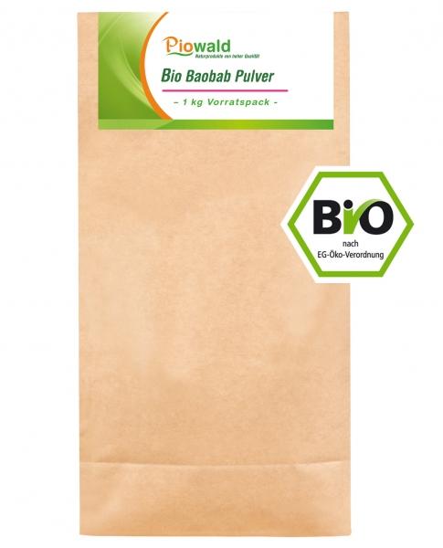 BIO Baobab Frucht - 1 kg Pulver Vorratspack