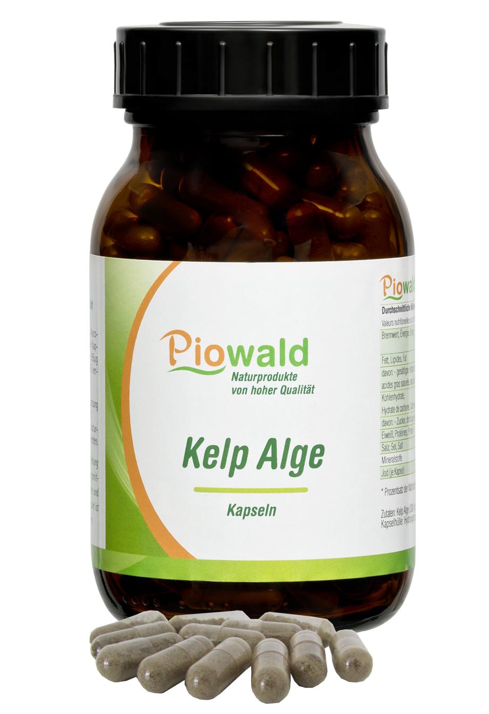 kelp alge 220 vegi kapseln im braunglas piowald gmbh. Black Bedroom Furniture Sets. Home Design Ideas