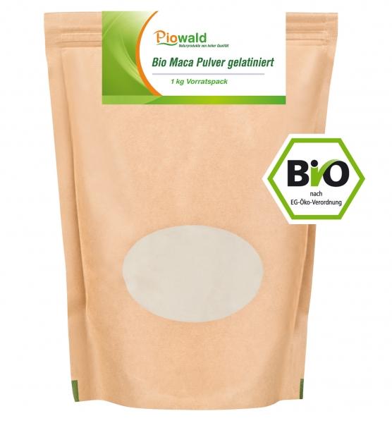 BIO Maca Pulver gelatiniert - 1 kg Vorratspack